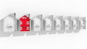 Zoek naar geschikte huisvesting stock illustratie