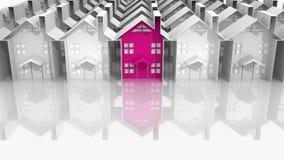 Zoek naar geschikte huisvesting vector illustratie