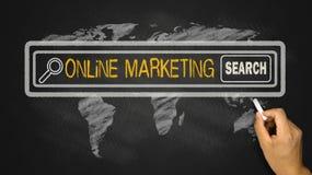 Zoek naar online marketing royalty-vrije stock afbeelding
