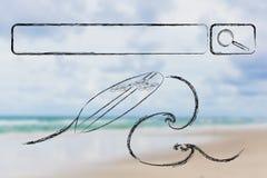 Zoek naar uw volgende vakantiebestemming stock afbeelding