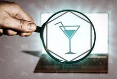 Zoek naar vrije tijd, clubs, partijen, vermaak royalty-vrije illustratie