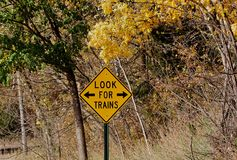 Zoek treinen Stock Afbeelding