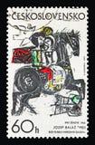 Zoektocht naar Geluk, door Josef Balaz 1965, serie, circa 1973 royalty-vrije stock afbeelding