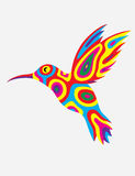 Zoemende vogelsamenvatting colorfully Royalty-vrije Stock Foto's