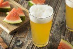 Zoet Alcoholisch Watermeloenbier stock foto's