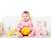 Zoet babymeisje Stock Fotografie