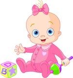 Zoet babymeisje royalty-vrije illustratie