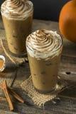 Zoet Bevroren Pompoenkruid Latte Stock Afbeeldingen