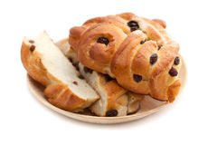 Zoet brood met rozijnen Royalty-vrije Stock Afbeeldingen