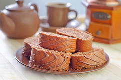 Zoet broodje stock foto