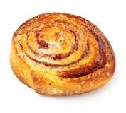 Zoet broodje met kaneel stock foto