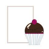 Zoet Cupcake-etiket Stock Fotografie