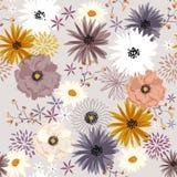 Zoet de bloem naadloos patroon van de kleuren uitstekend bloeiend Vrijheid, Duitsland Royalty-vrije Stock Fotografie