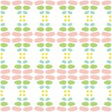 Zoet de lente gekleurd abstract vector naadloos patroon Moderne modieuze textuur van het herhalen van geometrische tegels van han vector illustratie