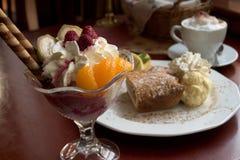 Zoet dessert royalty-vrije stock afbeelding