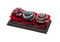 Zoet Dessert: Chocoladecake Isoleted op Witte Achtergrond, Cli Royalty-vrije Stock Afbeelding