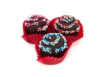 Zoet Dessert: Chocoladecake, op Witte Achtergrond Royalty-vrije Stock Foto's