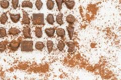 Zoet dessert met donkere chocolade Royalty-vrije Stock Afbeeldingen