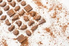 Zoet dessert met donkere chocolade Royalty-vrije Stock Afbeelding