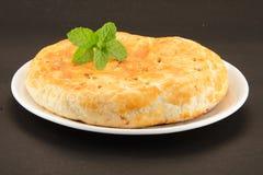 Zoet die brood met rozijnen en kokosnoot wordt gevuld Royalty-vrije Stock Afbeelding