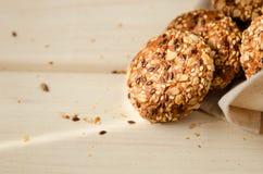 Zoet eigengemaakt koekje met havervlokken Stock Afbeelding