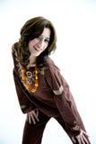Zoet etnisch kledings actief meisje Royalty-vrije Stock Fotografie