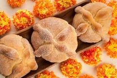 Zoet geroepen brood (Pan de Muerto) royalty-vrije stock afbeelding