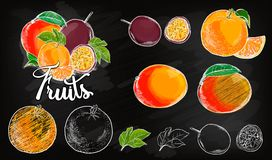 Zoet het ontwerpmalplaatje van het appel vectorembleem vers fruit, voedsel of menuraadspictogram Vector illustratie Royalty-vrije Stock Foto's