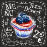 Zoet het ontwerpmalplaatje van het dessert vectorembleem vers Stock Fotografie