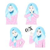 Zoet Hijab-Meisje 4 Stock Afbeelding