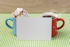 Zoet koffiepaar Stock Fotografie