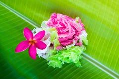Zoet kokosnotensuikergoed thailand Royalty-vrije Stock Foto's