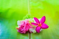 Zoet kokosnotensuikergoed thailand Stock Afbeelding
