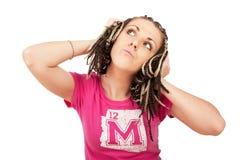 Zoet meisje in roze Royalty-vrije Stock Afbeelding