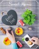 Zoet menu Stock Foto
