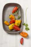 Zoet Mini Peppers Royalty-vrije Stock Afbeelding
