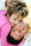 Zoet paar in liefde stock afbeeldingen