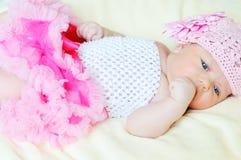 Zoet Pasgeboren Meisje Stock Foto's
