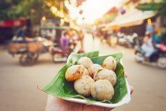 Zoet voedsel op de straatmarkt royalty-vrije stock foto