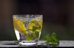 Zoet water met citroen en munt royalty-vrije stock fotografie