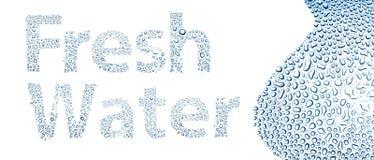 Zoet water van dalingen, achtergrond op wit wordt gemaakt dat stock illustratie