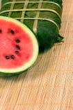 Zoet watermeloen en rijstcake Royalty-vrije Stock Foto