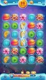 Zoet wereld mobiel GUI speelgebied stock illustratie