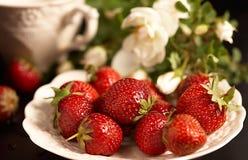 Zoete aardbeien Stock Fotografie
