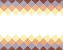Zoete achtergrond in uitstekende stijl met copyspace Randen bij de bovenkant en de bodem met schuine vierkanten vector illustratie