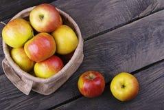 Zoete appelen in zak Royalty-vrije Stock Fotografie