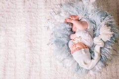 Zoete baby in zoete droom Royalty-vrije Stock Foto's