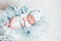Zoete baby in zoete droom Royalty-vrije Stock Afbeelding