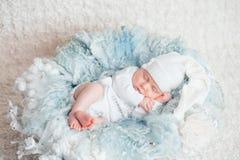 Zoete baby in zoete droom Stock Fotografie