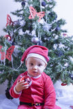 Zoete Baby Santa Claus royalty-vrije stock foto